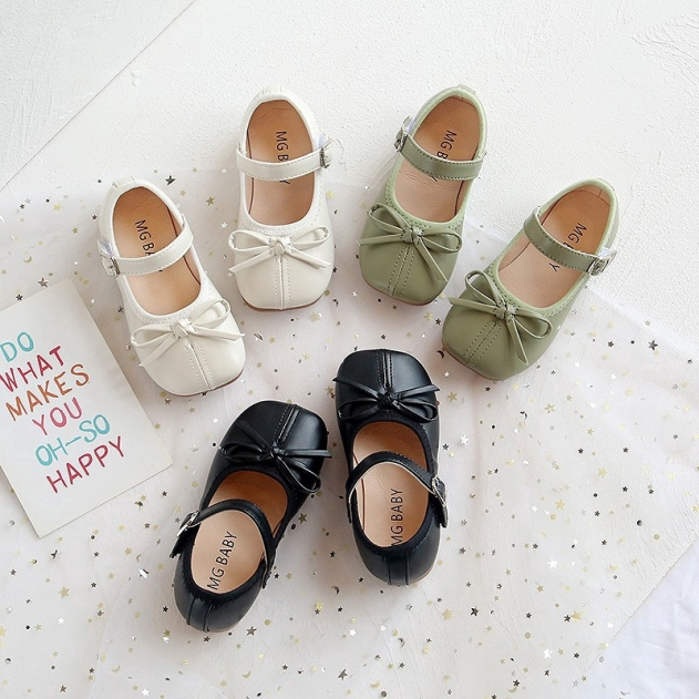Giày da búp bê mũi tròn xinh xắn cho bé gái 2-6 tuổi giá rẻ