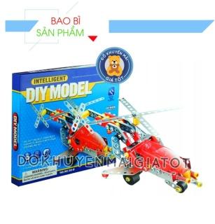 Đồ chơi lắp ráp mô hình máy bay trục thăng thông minh 204 chi tiết cho bé - WC38-B - Thị trần đồ chơi thumbnail