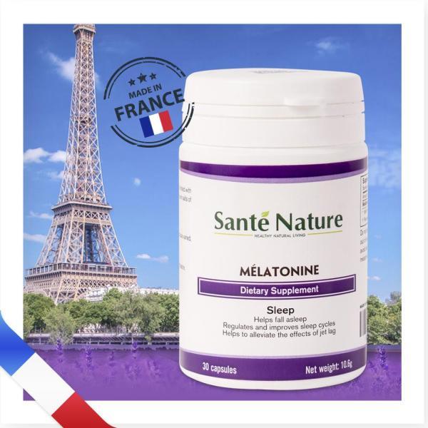 Viên uống giúp điều hòa giấc ngủ Santé Nature Mélatonine cao cấp