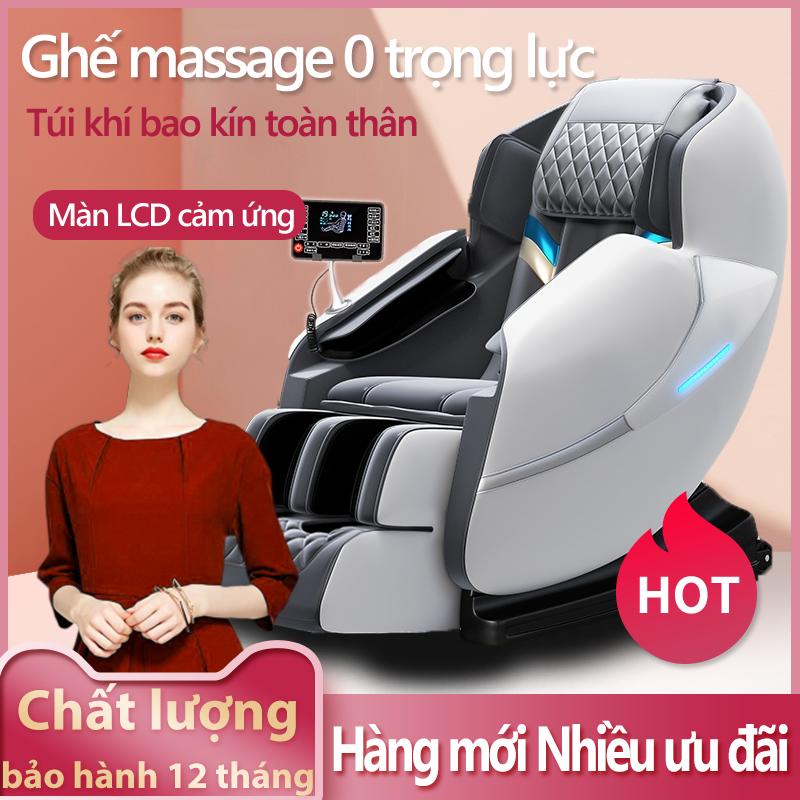 [NEW 2021] ghế massage máy mát xa toàn thân kiểu phi thuyền không trọng lực bảng điều khiển LCD cảm ứng cỡ lớn văn loa nhạc bluetooth - Thở ánh sáng LED JF International