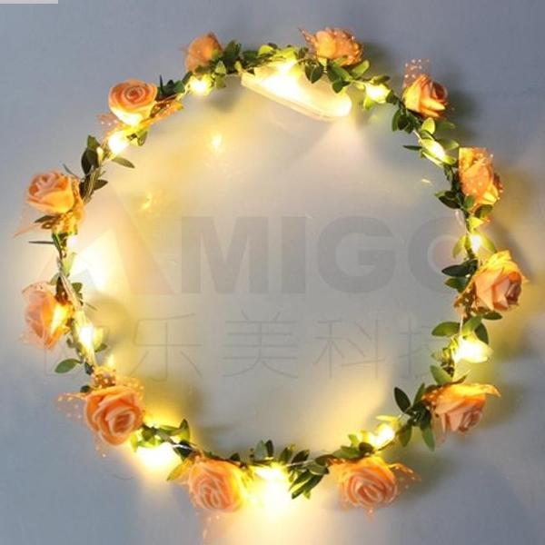Vòng hoa phát sáng(Vòng hoa có đèn led)