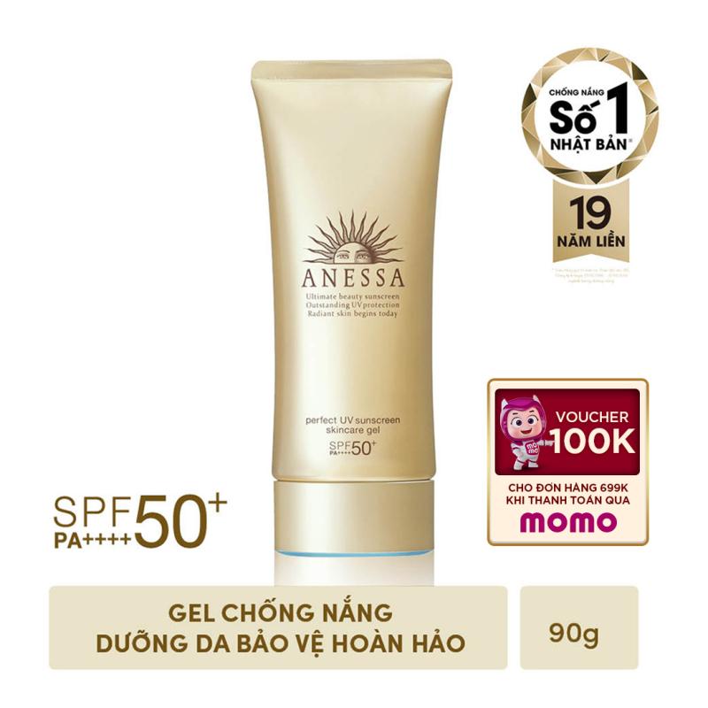 Gel chống nắng dưỡng ẩm chuyên sâu bảo vệ hoàn hảo Anessa Perfect UV Sunscreen Skincare Gel - SPF50+ PA++++ - 90g nhập khẩu