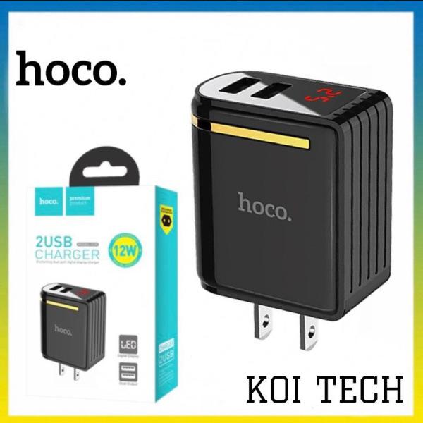 CỐC SẠC CỦ SẠC NHANH 2 CỔNG Hoco C39 US - màn hình LCD hiển thị điện áp