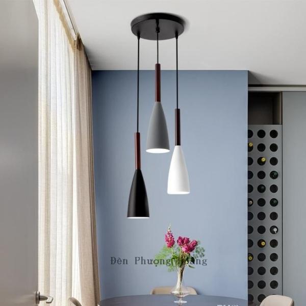 Bảng giá Đèn thả bàn ăn đuôi gỗ - đèn trang trí quán cafe - đèn thả trần trang trí - bộ ba đèn thả trang trí