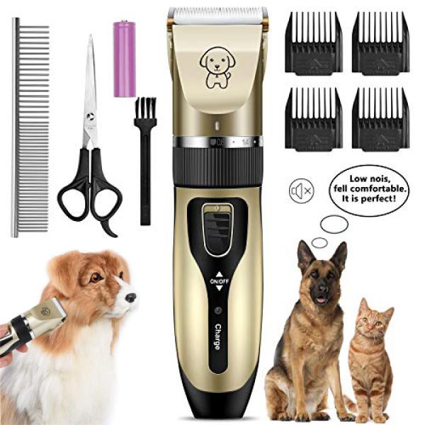 ( Tặng lược + kéo ) Tông đơ cắt lông chó mèo - tông đơ cắt tỉa lông thú cưng - máy cắt lông thú cưng chạy bằng pin siêu bền siêu bén