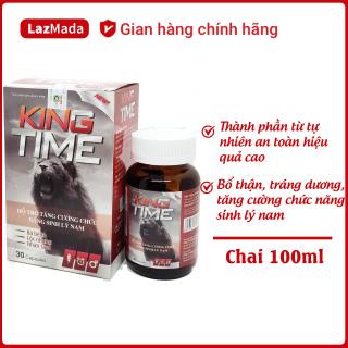 Viên uống tăng cường sinh lý KING TIME - Giúp bổ thận, tăng cường chức năng sinh lý nam - Thành phần nhưng hươu, nhân sâm - Hộp 30 viên đạt chuẩn GMP thumbnail