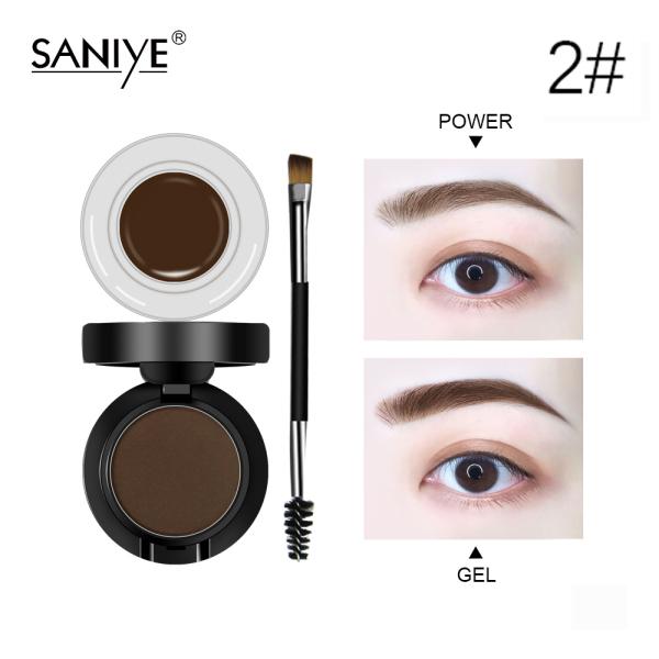 SANIYE gel lông mày với bộ bột trang điểm mắt không thấm nước với bàn chải M250 tốt nhất