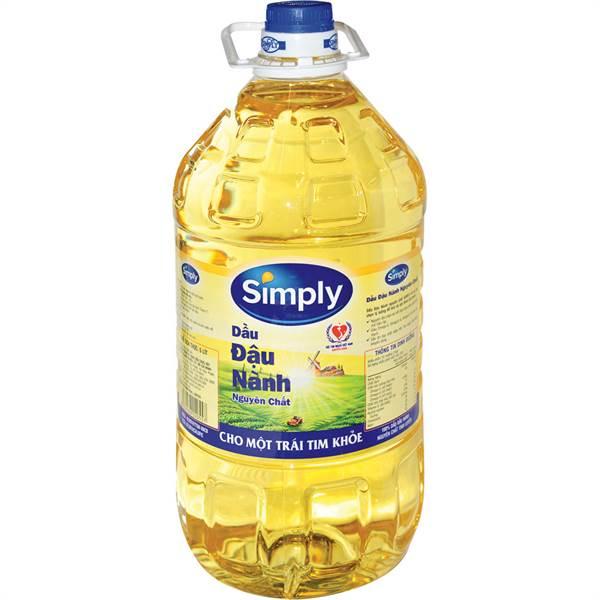 Dầu đậu nành Simply nguyên chất 5L