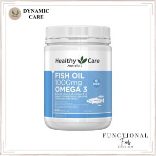 [Hàng chuẩn Úc] Viên uống dầu cá không mùi tanh Healthy care fish oil 1000mg omega 3 400 viên của Úc thumbnail