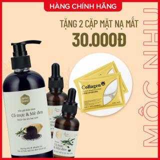 Bộ sản phẩm dành cho tóc bạc sớm Serum & Dầu gội Cỏ Mực Mộc Nhu (1 gội + 2 serum)