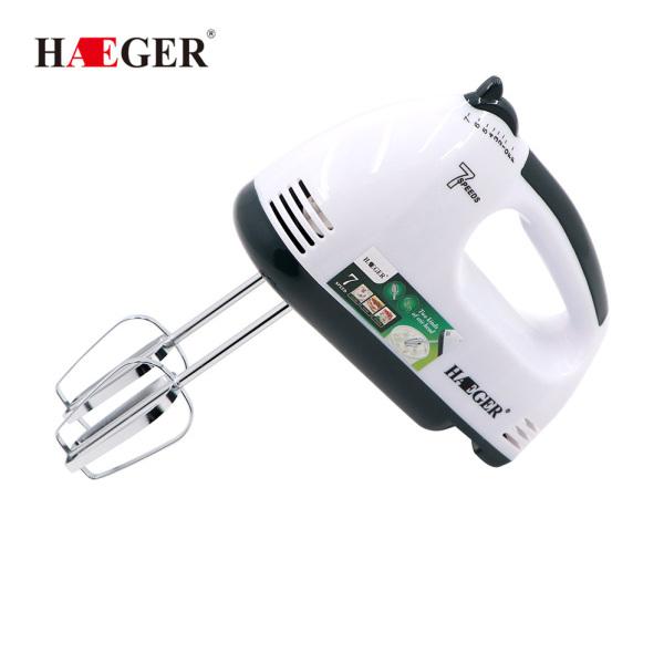 Máy đánh trứng tự động mini Haeger 6633 công suất 180W + Tặng kèm 2 que nhào bột làm bánh - Đánh khuấy nhanh với 7 tốc độ có thể điều chỉnh được [ Bảo Hành 12 tháng]