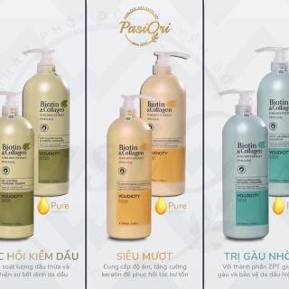 Bộ Dầu gội xả Biotin & collagen XANH LÁ, XANH DƯƠNG, VÀNG ( Kiềm Dầu phục hồi hư tổn ,khô xơ, kích thích mọc tóc thumbnail
