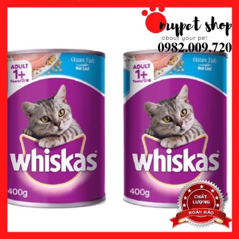 Pate Vị Cá Biển/Cá Thu Whiskas Cho Mèo (Lon 400g)