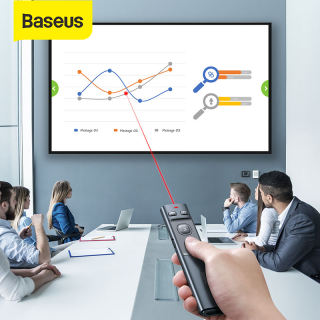 Baseus bút laser trình chiếu PPT không dây điều khiển từ xa 2.4GHz kèm con trỏ cho MacBook Win 10/8/7 - INTL
