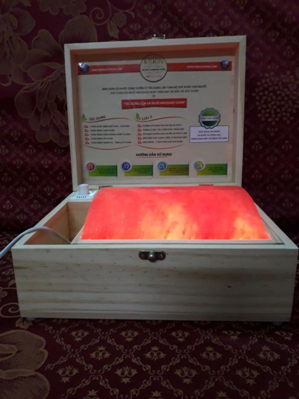 Hộp Đèn Đá Muối Cong Massage Nhập Khẩu Pakistan cao cấp