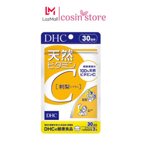 Viên uống DHC Vitamin C Hard Capsule túi 60 viên 30 ngày của Nhật Bản dùng tăng sức đề kháng, hỗ trợ sáng da cao cấp
