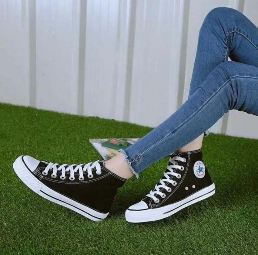 Giày thể thao nữ , giày sneaker nữ dáng CV cao cổ siêu đẹp kèm clip thật giá rẻ