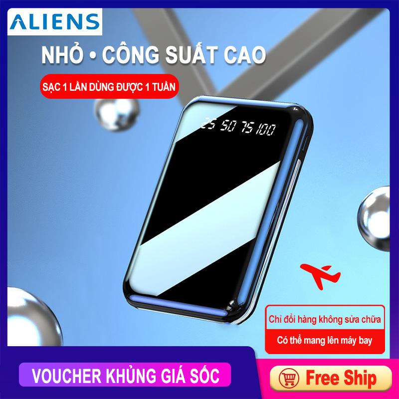 Offer Giảm Giá Pin Sạc Dự Phòng 10000mAh Mini Công Suất Lớn Sạc Nhanh, 2 Cổng USB
