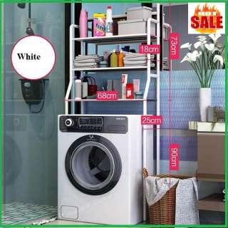 Kệ để đồ trên máy giặt khung thép sơn tĩnh điện kt 163x68x25cm- Kệ sau máy giặt tiện dụng- kệ để dụng cụ máy giặt