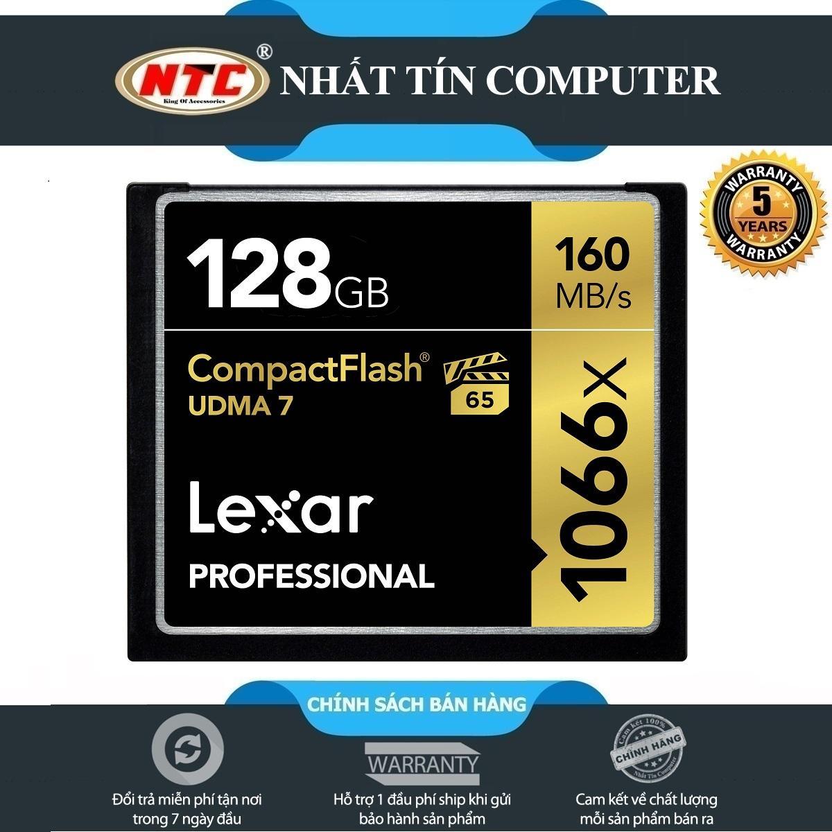 Thẻ Nhớ CF (CompactFlash) Lexar Professional 1066X 128GB 160MB/s Đen)