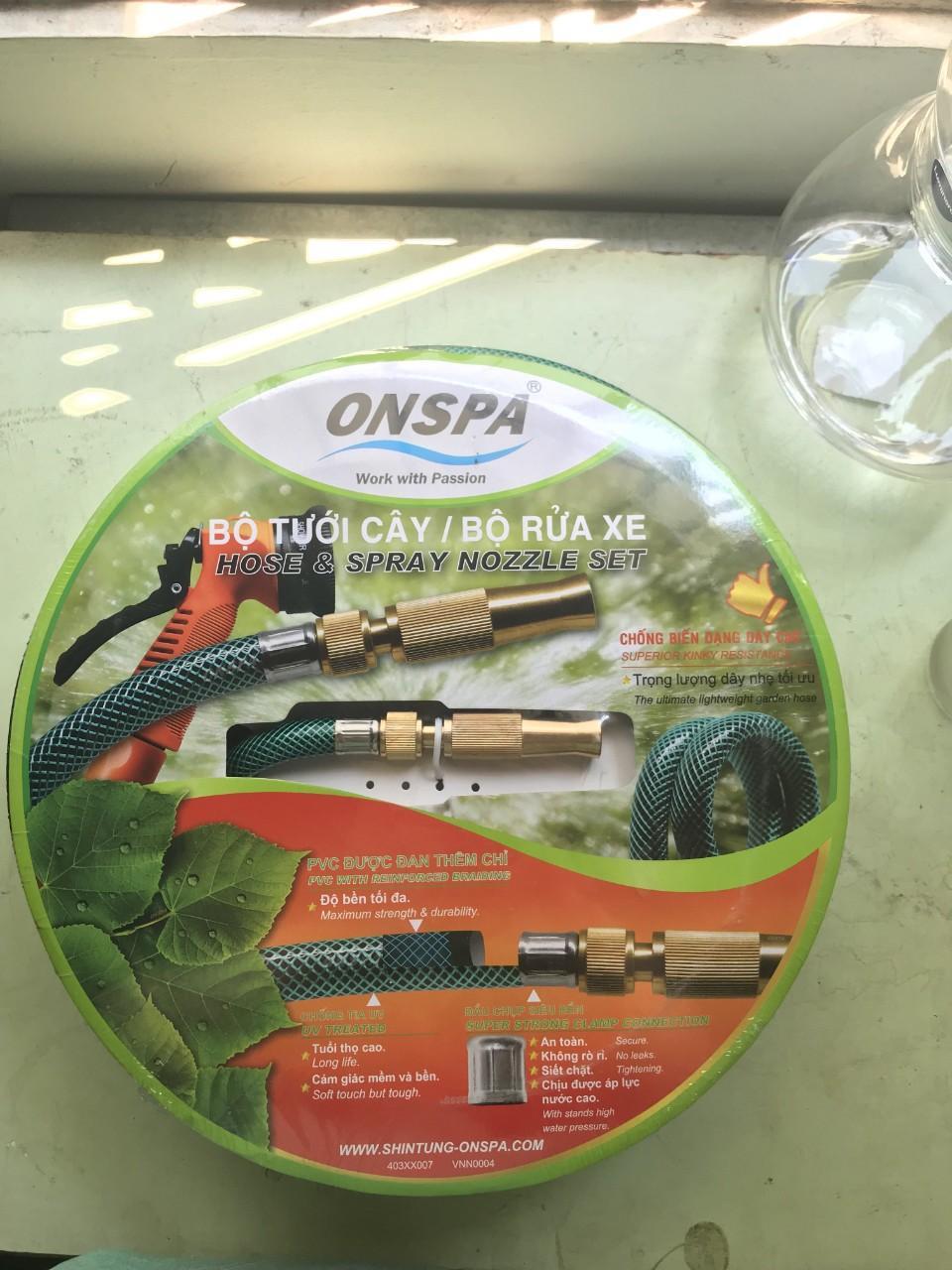 Bộ Xịt Rửa Tưới Cây Cao Cấp Onspa 1021 dài 15m Kho sỉ Thái Thịnh