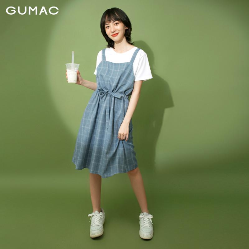 Nơi bán Đầm váy GUMAC thiết kế  yếm dây rút DB1124