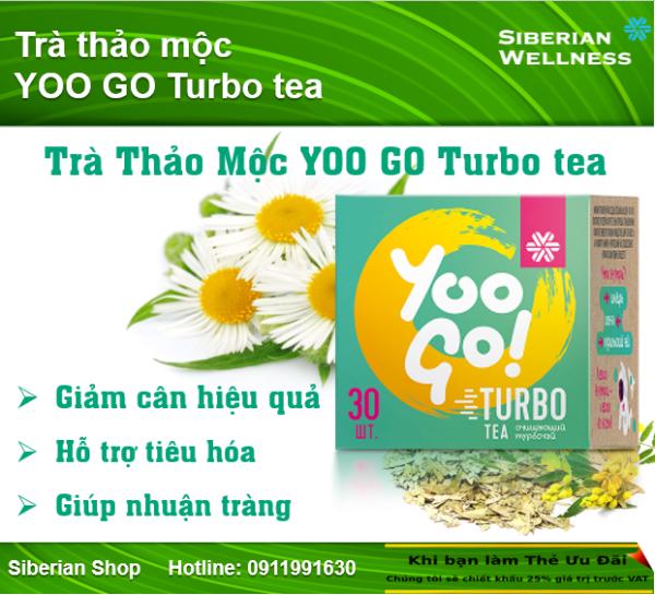 Trà thảo mộc Yoo Go Turbo Tea giúp giảm cân hiệu quả và an toàn
