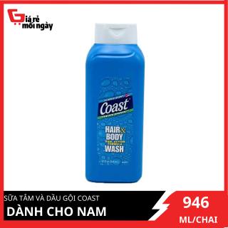 [Hàng Mỹ Nhập Khẩu Chính Hãng] Chai Sữa Tắm Gội Coast Dành Cho Nam 946ml thumbnail