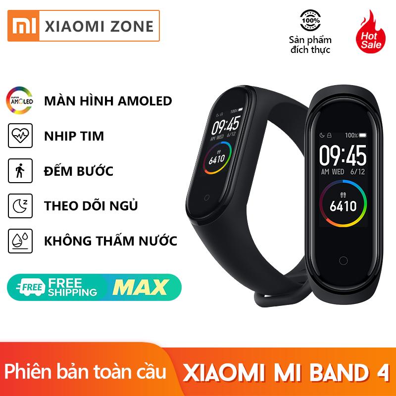 [Phiên Bản Toàn Cầu] Đồng Hồ Thông Minh Xiaomi Mi Band 4 Vòng Đeo Tay Máy Đo Nhịp Tim Thiết Bị Theo Dõi Sức Khỏe Bluetooth 5.0 Chống Nước Còn Hàng Màu Đen (Đa Ngôn Ngữ)