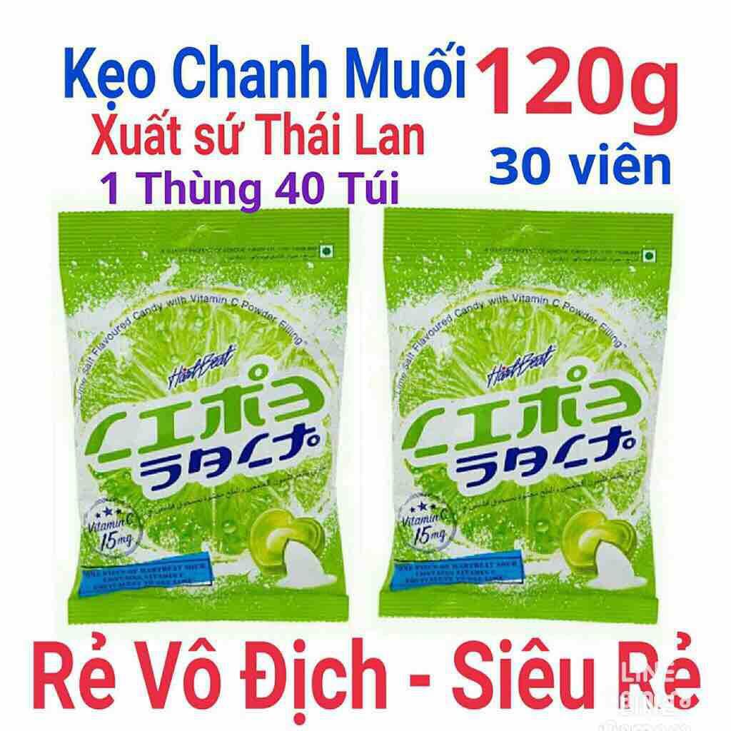 Combo 5 gói kẹo chanh muối Thái Lan bổ sung vitamin C