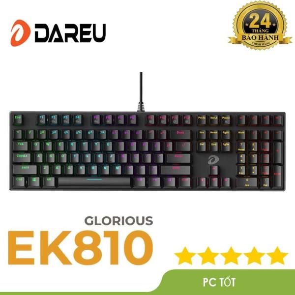 Bảng giá Bàn phím cơ Gaming DAREU EK810 Black (MULTI-LED Blue/ Brown/ Red D switch) - Bảo hành 24 tháng Phong Vũ