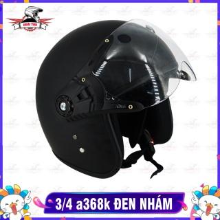 Mũ Bảo Hiểm 3 4 ASAMA 368K - Đen Nhám thumbnail