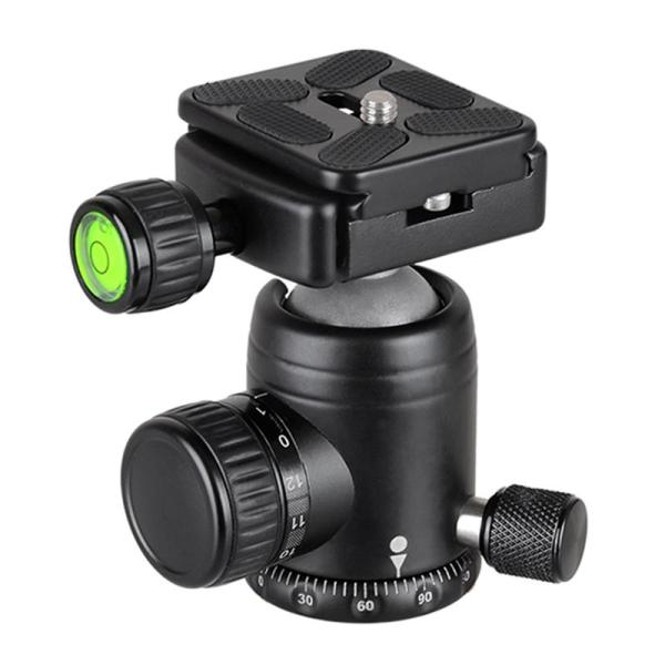 Giá Bexin K30 Camera Accessories 360 Horizontal Rotation Panorama Tripod Ball Head With Quick Release Plate Clamp 1/4 Inch Screw For Dslr Camera