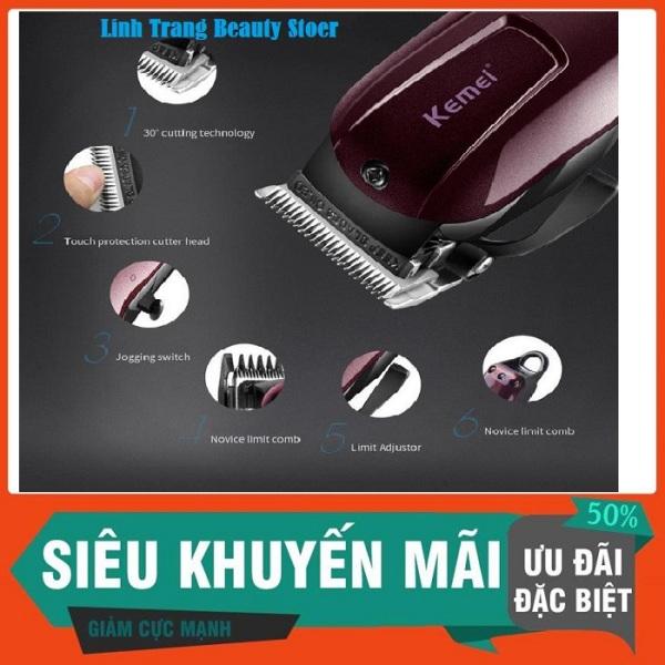 Bảng giá Tông đơ cắt tóc không dây chuyên nghiệp Kemei KM-2600-Màu Nâu Đỏ Điện máy Pico