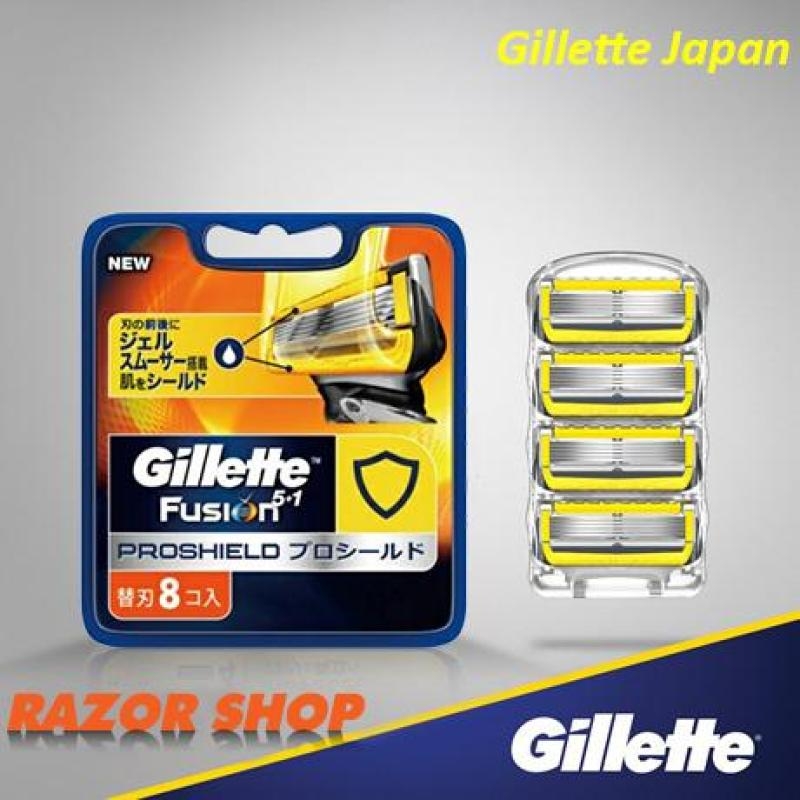 Gillette lưỡi dao thay thế Gillette Fusion 5 + 1 Proshield Nhật Bản, vỉ 8 lưỡi