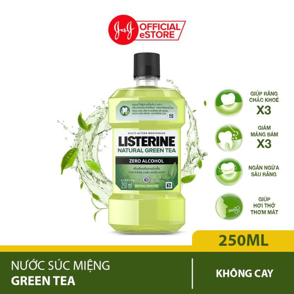 Nước súc miệng ngừa sâu răng Listerine natural green tea 250ml - 100953222