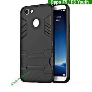 Ốp lưng Oppo F5 F5 Youth chống sốc giá đỡ kiêm hiệu IRON MAN thumbnail