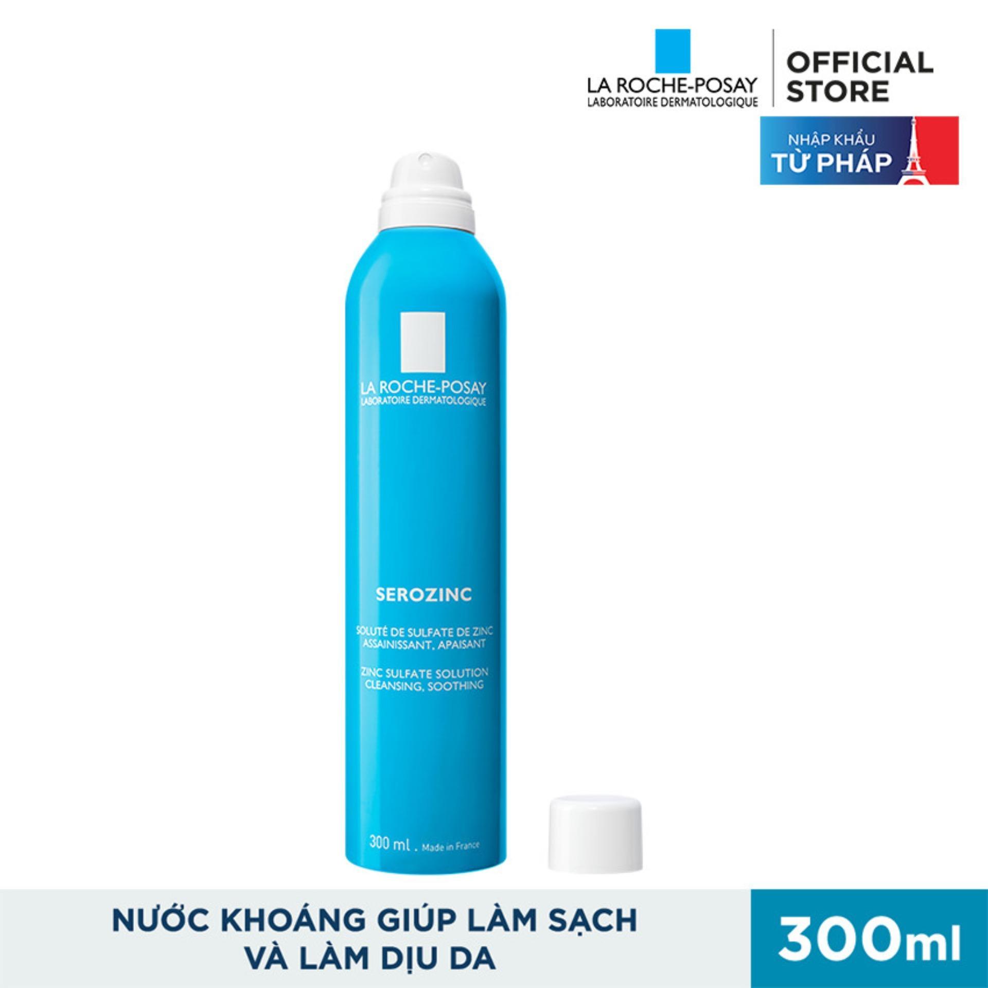 Xịt khoáng giúp làm sạch & làm dịu da La Roche Posay Serozinc  300ML nhập khẩu