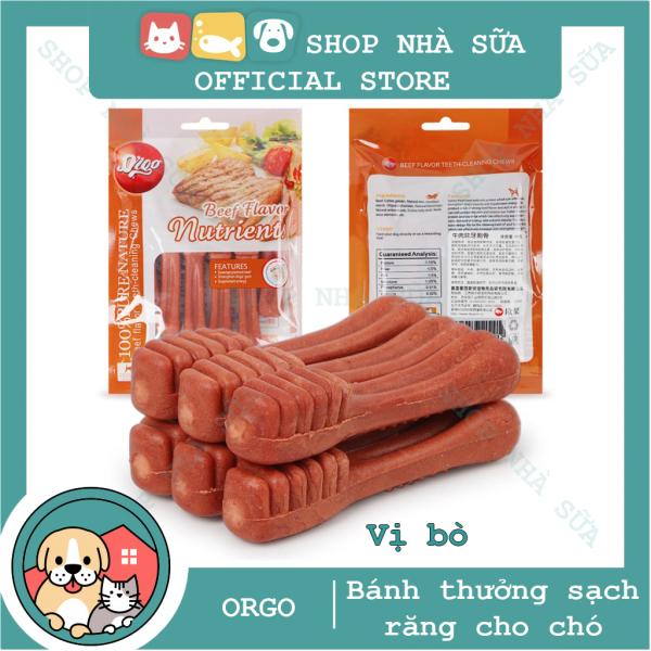 Đồ Ăn Vặt Xương Gặm Sạch Răng Cho Chó Orgo, Xương Gặm Cho Chó, Đồ ăn cho chó, xương gặm cho chó