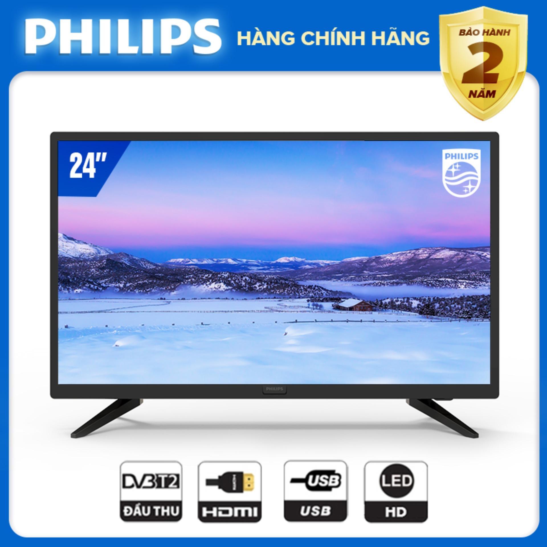 TIVI PHILIPS 24 INCH 24PHT4003S/74 LED HD (.DIGITAL TV DVB-T2 - HÀNG THÁI LAN) - TIVI GIÁ RẺ - TẶNG USB CỰC CHẤT 16G - BẢO HÀNH CHÍNH HÃNG 2 NĂM TẠI NHÀ.