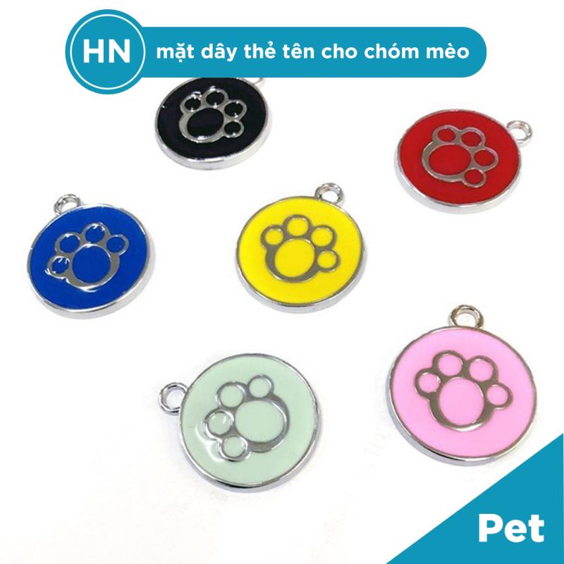 [HN] Mặt Dây Thẻ Tên Cho Chó Mèo Hình Bàn Chân - Phụ Kiện Cho Thú Cưng