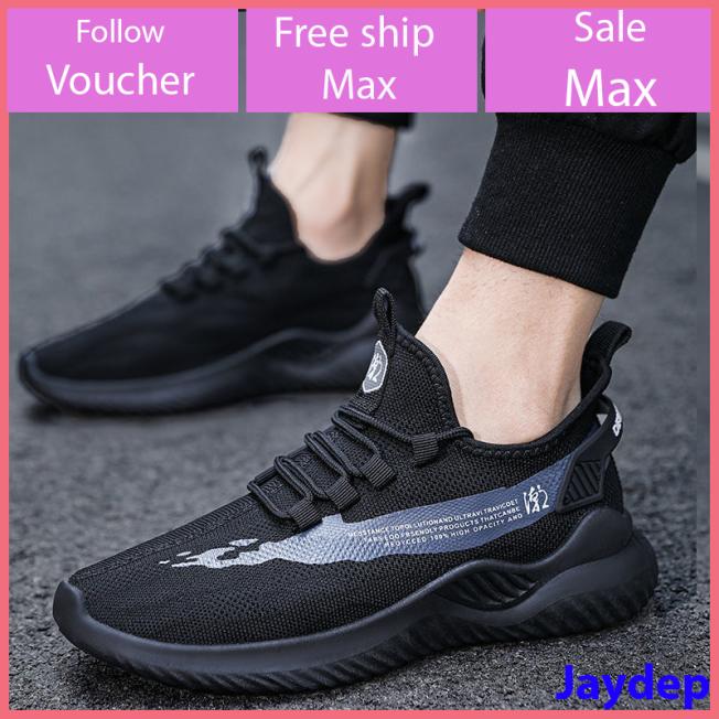 Giày nam thể thao, giày sneaker nam màu đen, kem, trắng kiểu buộc dây êm chân đi bộ chạy thoải mái V269 giá rẻ