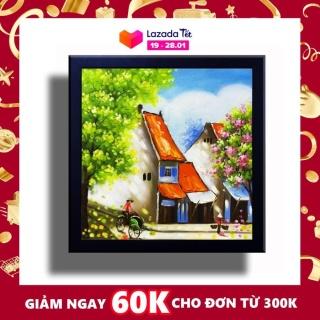Tranh Sơn Dầu - Mưu Sinh - Tranh Minh Hiền (VẼ TAY 100% - KHUNG GỖ) thumbnail