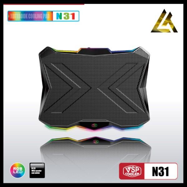 Bảng giá Đế Tản Nhiệt Laptop Máy Tính Vsp Cooler N31 Led - Quạt Tản Nhiệt Laptop Pc Máy Tính Phong Vũ