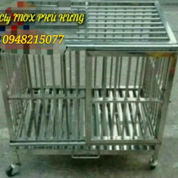 Chuồng chó inox 80x50x65(DxRxC)
