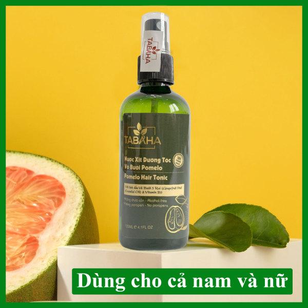 Nước xịt dưỡng tóc tinh dầu bưởi kích mọc tóc Pomelo Tabaha 120ml giúp giảm rụng tóc, kích thích tóc mọc nhanh giá rẻ