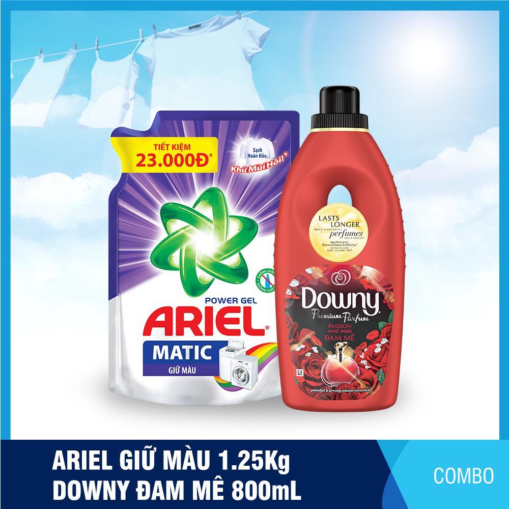 Nước giặt Ariel Matic giữ màu 1.25kg