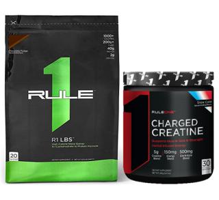 Set tăng cân & sức mạnh Rule 1 LBS 5.4lkg và Rule 1 Charged Creatine 240g thumbnail