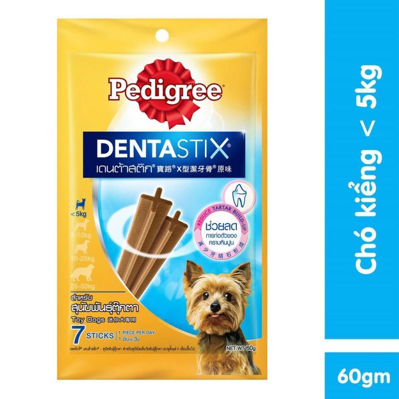 Bánh xương cho chó kiểng Pedigree Dentastix 60g