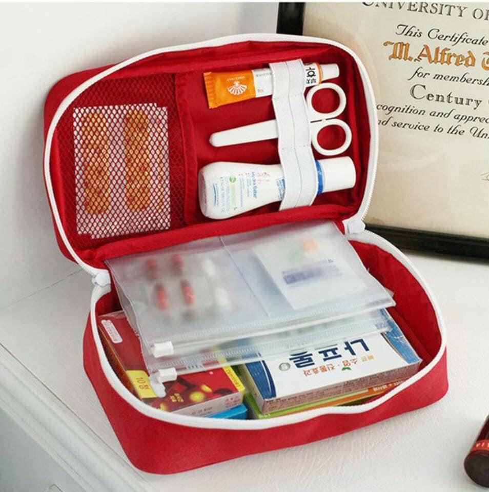 Deal Khuyến Mãi Túi đựng đồ Y Tế Cá Nhân ,Túi Y Tế đựng Thuốc Nhiều Ngăn(màu đỏ)